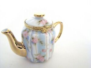 Porcelain-Hinged-Box-Porcelain-Floral-Teapot-Trinket-Box