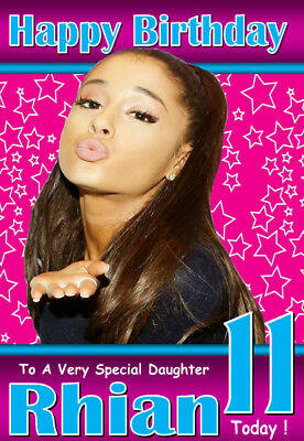 ANY NAME// RELATION AGE!!..Unique!! ARIANA GRANDE Personalised Birthday Card