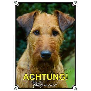 Bouclier Pour Chien Avec Terrier Irlandais - Signe En Métal 1a qualité de la marque