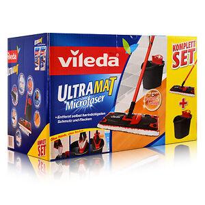 Vileda-Ultramat-Microfaser-Komplett-Set-Eimer-Presse-Wischer-132246-Ersatzbezug