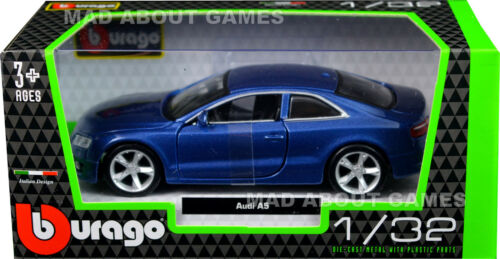 AUDI A5 1:32 Car Metal Model Die Cast Models Diecast Miniature Blue Toy Car