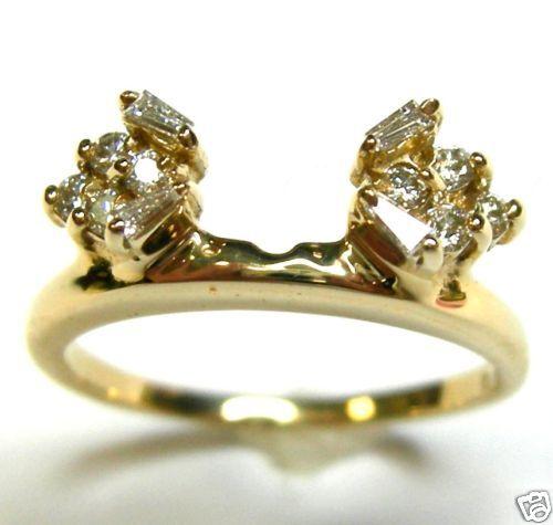 1 3 CTTW DIAMOND WRAP RING ENHANCER IN 14K YELLOW gold