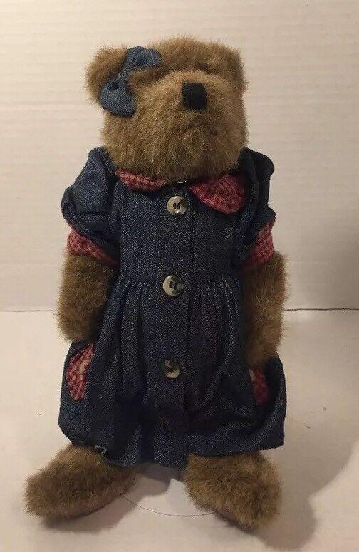 Boyds Bears 10  Denim Dress Home Spun. 1985-1996