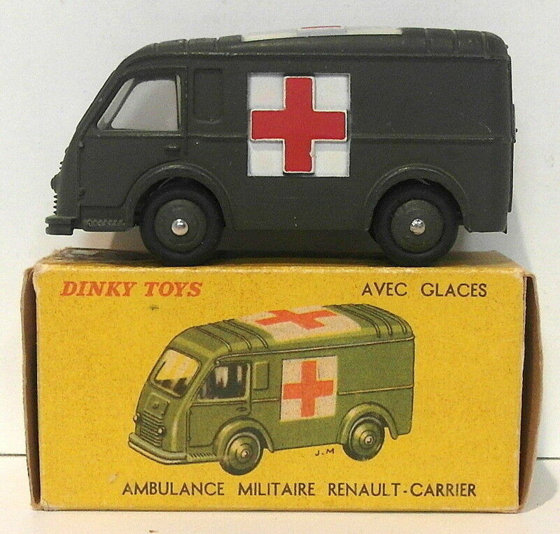 Vintage Dinky 80F 80F 80F - Ambulance Militaire Renault Carrier - Green 8ce