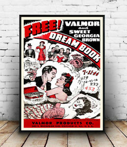 Free-Dream-book-old-magazine-advertising-Reproduction-poster-Wall-art