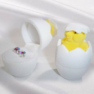 Jewelry Storage Holder Chicken Eggshell Ring Earring Cute Oragnizer Gift Box Hot