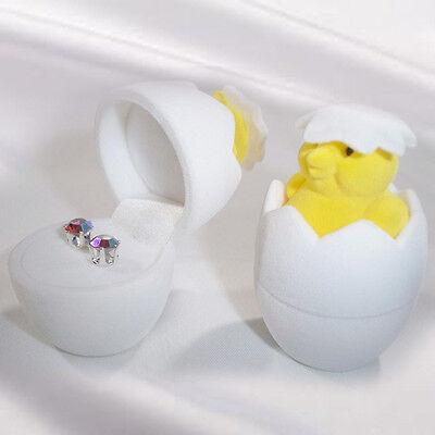 Jewelry Storage Holder Chicken Eggshell Ring Earring Cute Oragnizer Gift Box Hot
