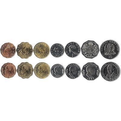 ARGENTINA SET 8 COINS 1 5 10 AUSTRALES 1//2 1 5 10 50 CENTAVOS 1985-1989 UNC