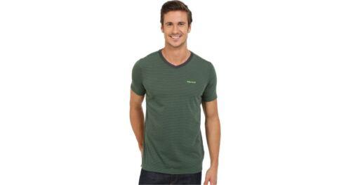 Men/'s Marmot Salt Point V-Neck Short Sleeve Tee Slate Grey Size XL NWT