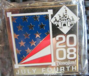 DLR Cast Exclusive Holiday Fourth of July 2008 Disney Pin 63355