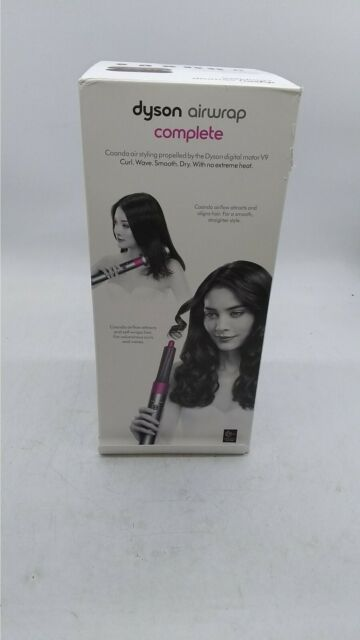 Dyson HS01 Airwrap Hair Styler - Nickel/Fuschia with 4 Accessories  (IL/RT6-1)