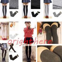 HOT Sexy Womens Girls Thigh High Socks Striped Cotton Socks Over Knee Stockings