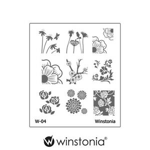 Winstonia-Floral-Nail-Art-Stamping-Image-Plate-Stamp-Polish-Disc-Romantic-Cute