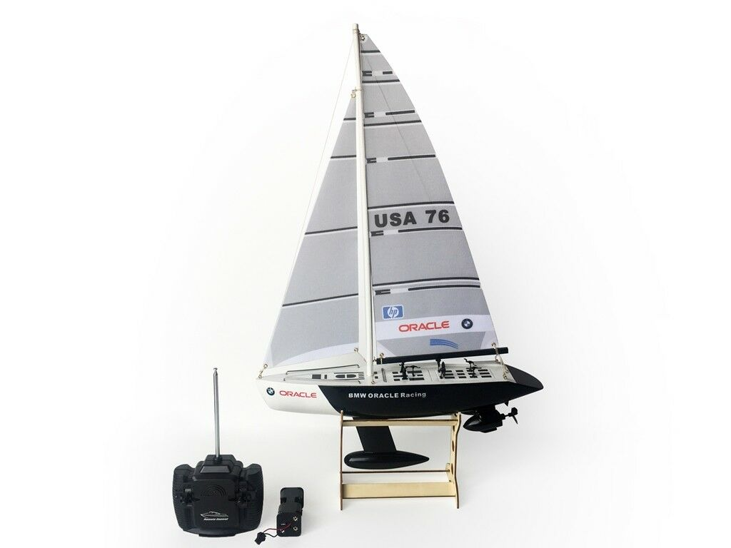 "25"" RC Remote Control 4 Channels Sailboat 120SH Motor - BMW Oracle"