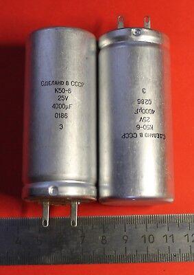 Capacitor oxide electrolytic K50-16 50V 200uF USSR Lot of 5 pcs