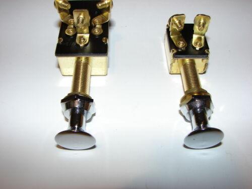 Interrupteur à tirette 12V 20A Poignée laiton chromé 2 pôles ou 3 neuf