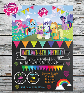 10 personalised my little pony girl birthday party invites image is loading 10 personalised my little pony girl birthday party filmwisefo