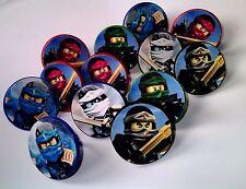 NEW Ninjago -12 Toy Rings-Party Favors Kids Birthday Pinata Prize Cupcake
