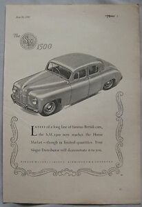 1949-Singer-SM-1500-Original-advert-No-2