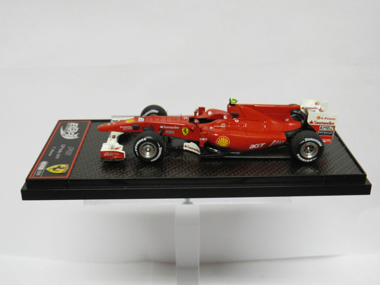 Ferrari F10 GP Monza 2010 F. Alonso BBR C50A2 Limited 150 PCS 1/43