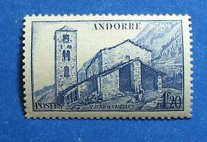 Good 1944 Andorra French 1fr20c Scott# 86 Michel # 104 Unused Cs27641 Yet Not Vulgar Andorra