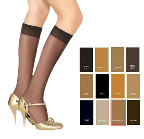3,6,12 X Femme 15 deniers Hautes Chaussettes Matt Jambe Look Confort Taille 4-7