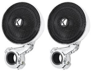 Pair-Kicker-40PSM34-PSM3-Waterproof-Motorcycle-ATV-Handlebar-Speakers-4-Ohm