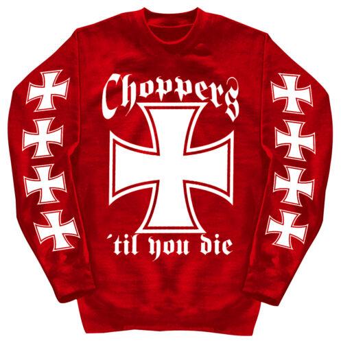 L Rot S Xxl Choppers Shirts Sweatshirt Unisex 3xl 4xl M Motivdruck Xl 10116 kiXwuTPOZl