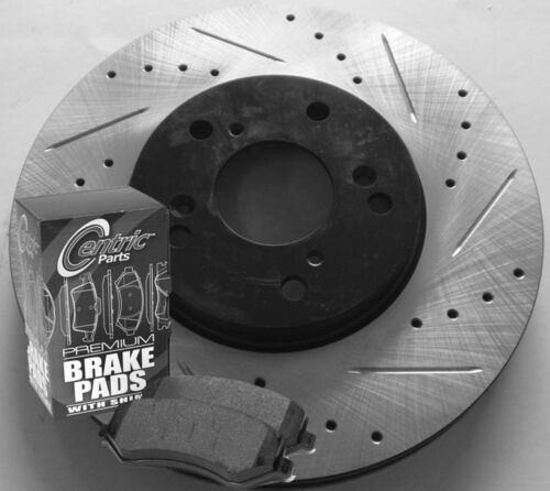 00-05 Toyota Celica GTS Drilled Slotted Brake Rotors Ceramic Pads F+R Set