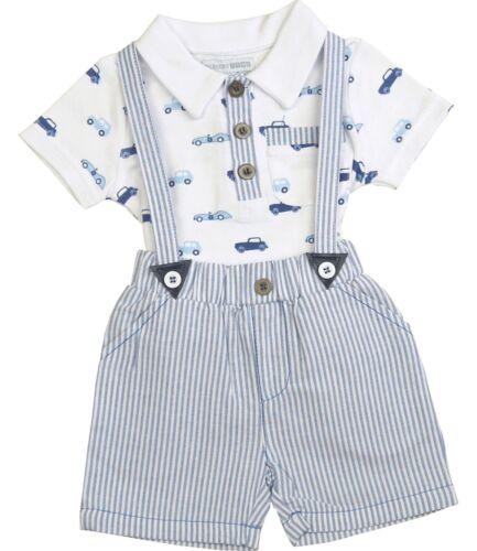 Babyprem Jungen Baby Kleidung 2 Teile Outfit /'Cars/' T-Shirt /& Shorts Set NB-6m