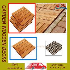 18 pz da giardino in legno ponti solette Decking Pavimento Piastrelle AD INCASTRO 29 cm SQ