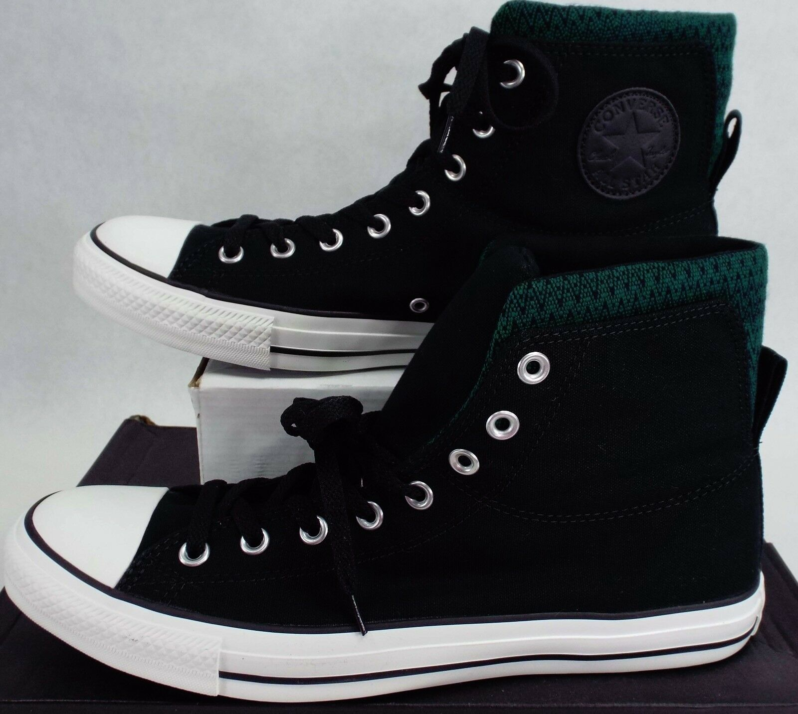 New Mens 11 CONVERSE CT Dual Collar Black Pine Green Shoes $60 140015F