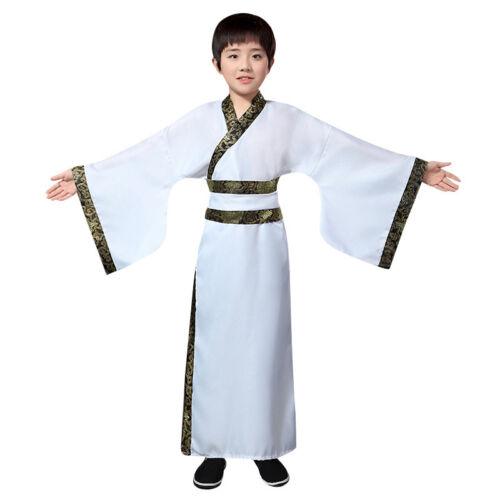 Kids Hanfu Boys Ancient Robe Cosplay Chinese Folk Dance Stage Perform Costume