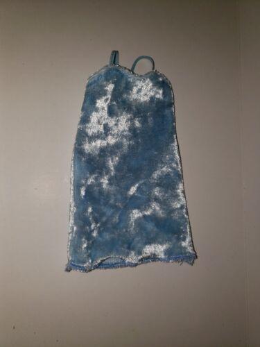 CURVY DOLL BABY BLUE VELVET DRESS