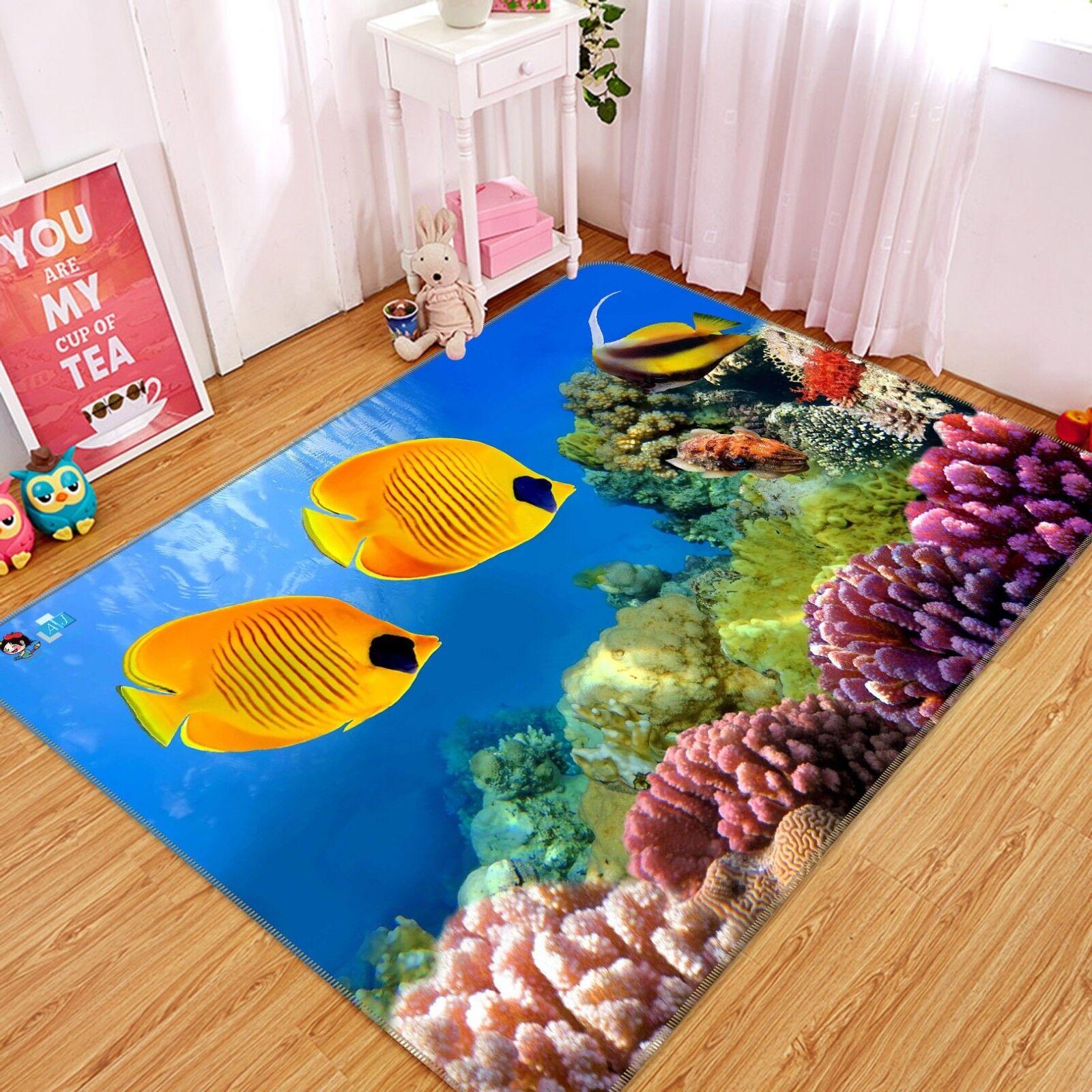 Tapis de sol 3D Fish Sea 204 pour tapis antidérapant, qualité tapis photo élégant, Royaume-Uni, été