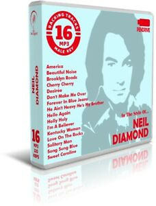 16-Backing-Tracks-MP3-In-The-Style-Of-NEIL-DIAMOND-Pendrive-USB-Listen-Demos