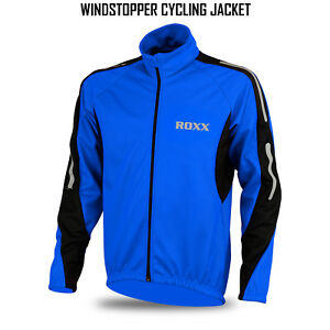 Mens-Cycling-Jacket-Winter-Thermal-Fleece-Windproof-Wind-stopper-Long-Sleeve
