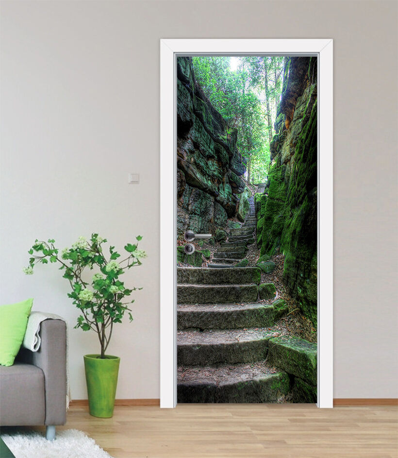 3D Die Treppe 733 Tür Wandmalerei Wandaufkleber Aufkleber AJ WALLPAPER DE Kyra | Üppiges Design  | Auktion  |