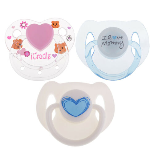 3pcs Lovely Cartoon Dummy Pacifier Magnet Reborn Doll Baby Doll Supplies
