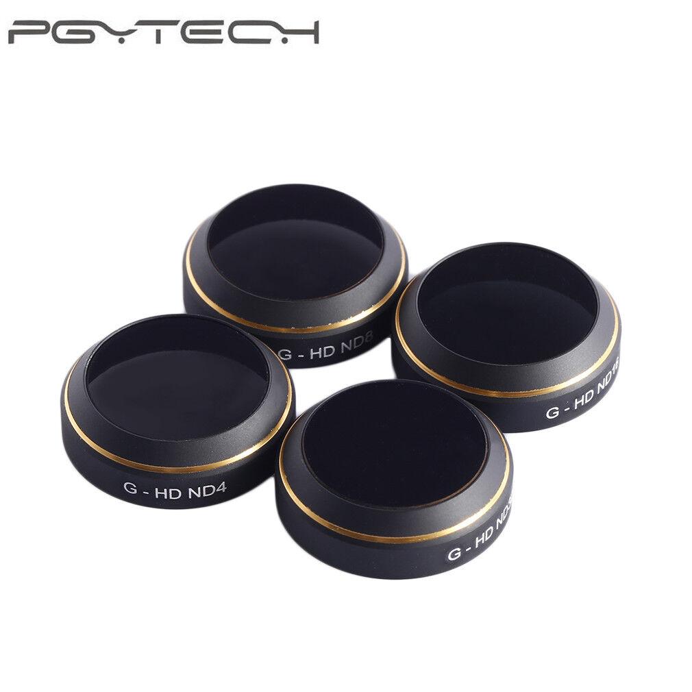 PGYTECH 4Pcs G-HD ND4 ND8 ND16 ND32 Gimbal Camera Lens Filter for DJI Mavic Pro