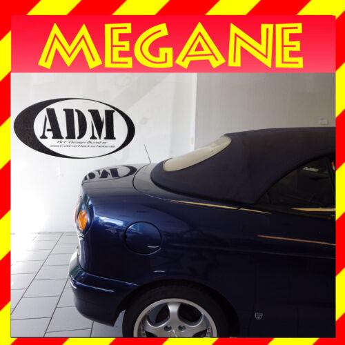 Renault Megane Cabrio Heckscheibe 1998-2002 mit Reißverschluss in klar