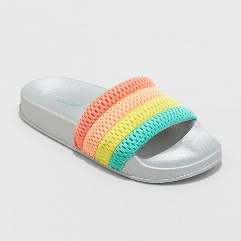 Youth  Girls/' Maria Slide Sandals Cat /& Jack Multi