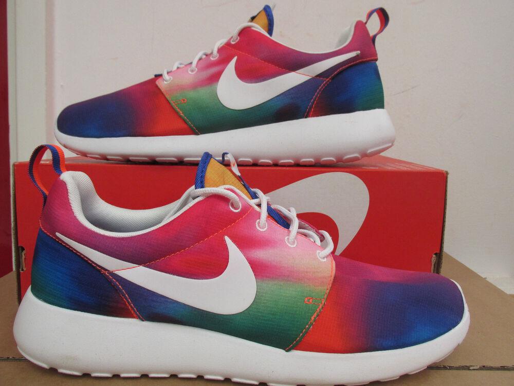 Nike Rosherun Imprimé Course Hommes Baskets 655206 518 Chaussures Enlèvement