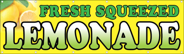 3x10 FT Vinyl Banner Sign - Fresh Squeezed Lemonade | eBay