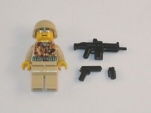Lego Minifig WW2 US Marine Soldier Army Builder