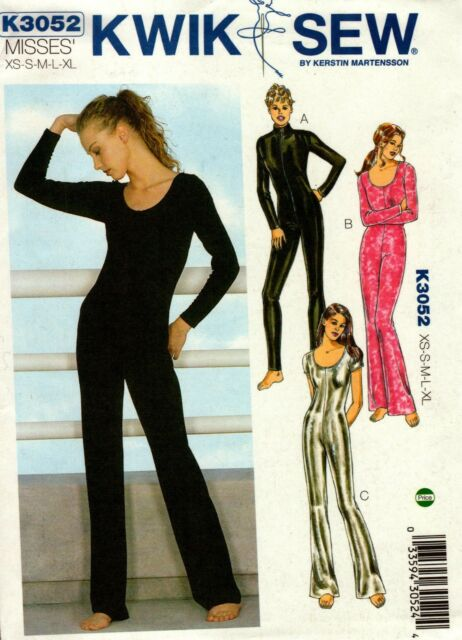 Kwik Sew Sewing Pattern 3052 Ladies Unitard Zip Catsuit Jumpsuit