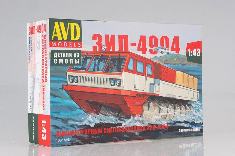 ZIL-4904 USSR Screw Motion All Terranian Vehicle  1 43 AVD Models 1351AVD