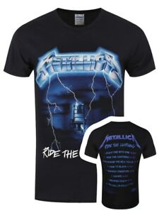3109eb6a Image is loading Metallica-Ride-The-Lightning-Tracks-Men-039-s-