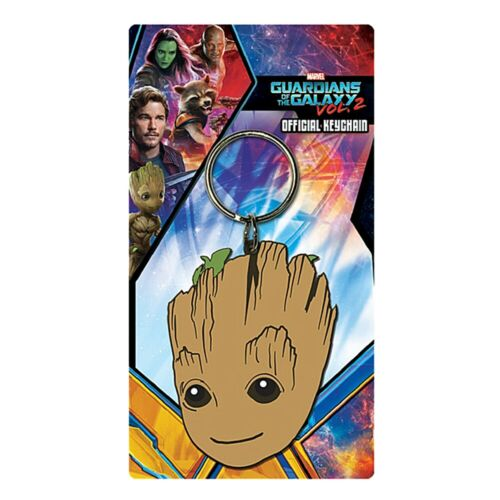 Genuine Marvel Comics Guardians Of The Galaxy Baby Groot Rubber Keyring Key Fob