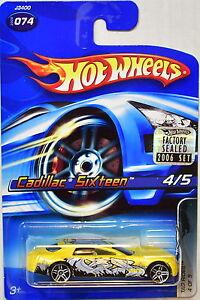 Hot Wheels 2006 Tag Rides Cadillac Sixteen 074 Yellow Factory Sealed